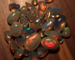 28ctw Beautiful Faceted/Cab Welo Opal Parcel