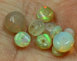 3.05 CTS 10 PIECES BEAD PARCEL OF ETHIOPIAN WELO OPALS C2714