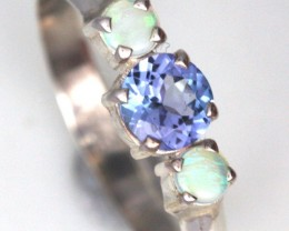 Solid Opal & Tanzanite Rings