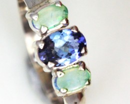 S IZE 5.5  TANZANITE + SOLID OPALS-FACTORY DIRECT[SOJ3574 ]