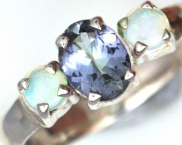 6.5 SIZE TANZANITE + SOLID OPALS-FACTORY DIRECT[SOJ3576 ]