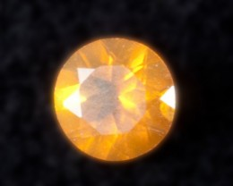 .2ct Bright Orange Faceted Mexican Jelly Opal (MO92)