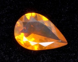 .9ct Orange Faceted Pear Mexican Jelly Opal (MO95)