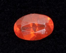 .3ct Red Faceted Oval Mexican Jelly Opal (MO99)