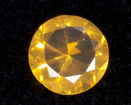 0.8ct Yellow / Orange Faceted Round Mexican Jelly Opal (MO105)