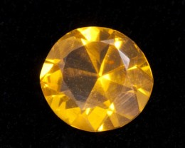 .6ct Orange Faceted Round Mexican Jelly Opal (MO106)