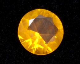 0.9ct Orange Faceted Round Mexican Jelly Opal (MO112)