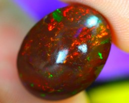 10.45Ct Neon Bright Flash Dark Base Ethiopian Welo Opal