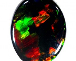 N1 BLACK-RED SOLID OPAL GEMGRADE L RIDGE 1.40 CTS INV-56