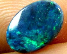.50 CTS BLACK OPAL  BRIGHT GREEN  PL 872