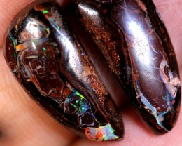 19.65 cts Funky Queensland Boulder Opal Pair (RB500)