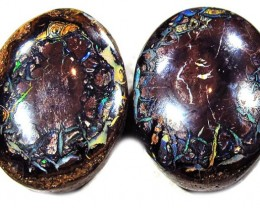 29.45 CTS  YOWAH OPAL PAIR AUSSIE POLISHED MS9871