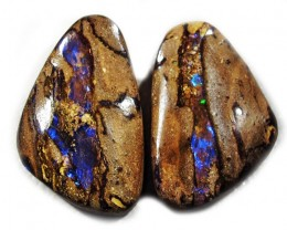 25.15 CTS  YOWAH OPAL PAIR AUSSIE POLISHED MS9872