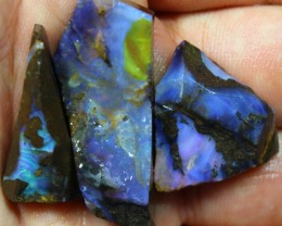 120.70 CTS 3 PCS BOULDER OPAL PRE SHAPED FOR EASY CUTTING