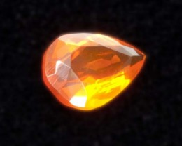 1.4 ct Faceted Orange Pear Mexican Fire Opal (MO147)