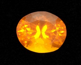 1.7ct Orange Faceted Oval Mexican Fire Opal (MO150)