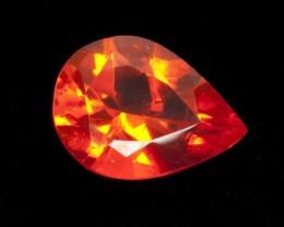 4ct Dark Orange Faceted Pear Mexican Fire Opal (MO151)