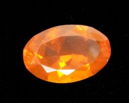 1.4ct Orange Oval Mexican Fire Opal (MO165)