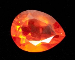 2ct Faceted Orange Pear Mexican Fire Opal (MO166)