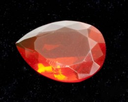2.6ct Faceted Dark-Orange Pear Mexican Fire Opal (MO167)