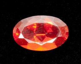 1.4ct Faceted Red Oval Mexican Fire Opal (MO168)