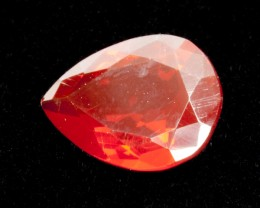 1.8ct Faceted Red Pear Mexican Fire Opal (MO170)