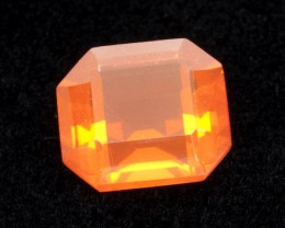 2ct Faceted Orange Rectangle Mexican Fire Opal (MO176)