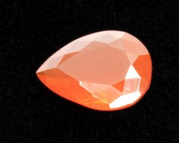1.5ct Faceted Dark-Orange Pear Mexican Fire Opal (MO178)