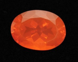 6ct Faceted Dark-Orange Oval Mexican Fire Opal (MO183)