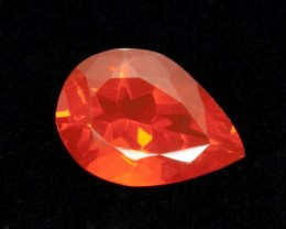 3.1ct Faceted Dark-Orange Pear Mexican Fire Opal (MO188)