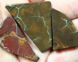 120 CTS 3 PCS BOULDER OPAL PRE SHAPED FOR EASY CUTTING