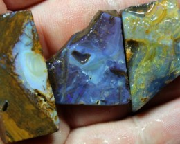 126 CTS 3 PCS BOULDER OPAL PRE SHAPED FOR EASY CUTTING