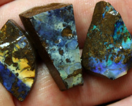 66.05 CTS 3 PCS BOULDER OPAL PRE SHAPED FOR EASY CUTTING