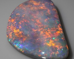 Very nice Large BLACK OPAL / 9,33 carats / Gold-Orange !