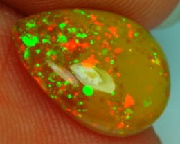 1.49Ct Amber Base PIN FIRE Bright 5/5 Welo Solid Opal