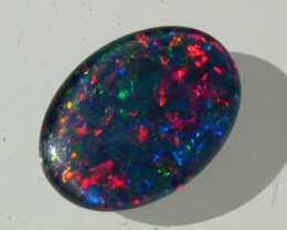 VERY BRIGHT AND COLORFUL OPAL TRIPLET AUSTRALIA 14x10mm