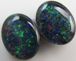 3.3 Cts Pair 10x8  mm  Opal Triplets  QOM 1250
