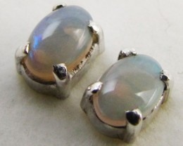 Natural crystal opal Earrings in silver PL 980