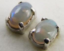 Natural crystal opal Earrings in silver PL 980