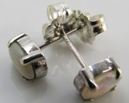 Natural crystal opal Earrings in silver PL 983