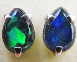Gem triplet opal Earrings in silver PL 994