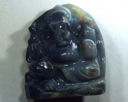 12.5 CTS OPAL CARVING - GANESH  LO-235