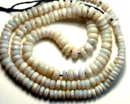 WHITE OPAL BEADS NECKLACE DRILLED  50 CTS  TBO 883
