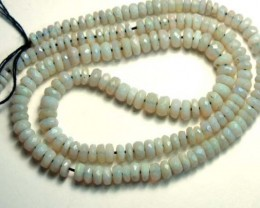 50  CTS  WHITE OPAL BEADS NECKLACE  DRILLED TBO 889