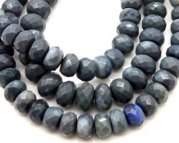 BLACK OPAL BEADS FACETED DRILLED NECKLACE 105 CTS  TBO 903