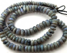 80 CTS  BLACK OPAL BEADS FACETED  DRILLED NECKLACETBO-931