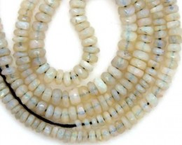 WHITE OPAL BEADS FACETED  DRILLED NECKLACE 40 CTS  TBO-946