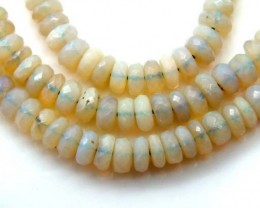 60  CTS WHITE OPAL BEADS FACETED  DRILLED NECKLACE  TBO-954