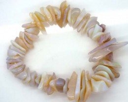 WHITE OPAL BRACELET DRILLED NECKLACE 168 CTS  TBO-959