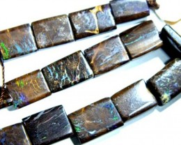 BOULDER OPAL BEADS FLAT  DRILLED  45 CTS  TBO-966